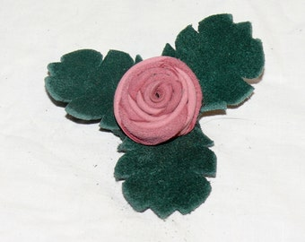 Medium Pink Button Rose Pin