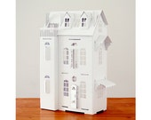 Cardboard luxury - Paper Imagination White Doll House - creative toy