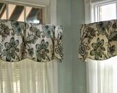 "Window Valance Custom PEYTON Hidden Rod Pocket Valance fits 47""- 66"" window, made to order using your fabrics, my LABOR and lining"