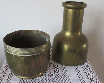 Antique  Brass Thermos Flask