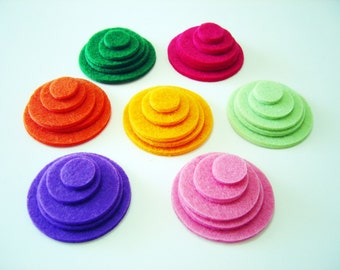 Thick Felt Circles - 6 Pieces - Felt Die Cut Circle Set