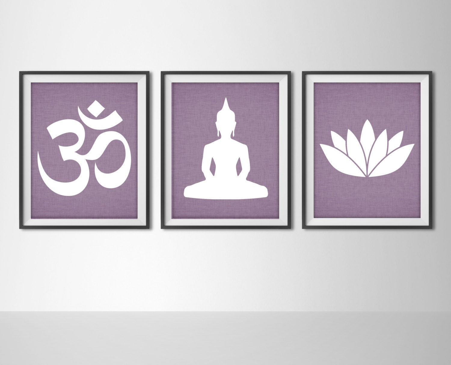 Yoga Print Set - Ohm Symbol,