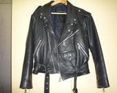 Vintage Womens Leather Biker jacket EU36