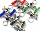 Pair of Dragonfly knitting stitch markers (set of 2)
