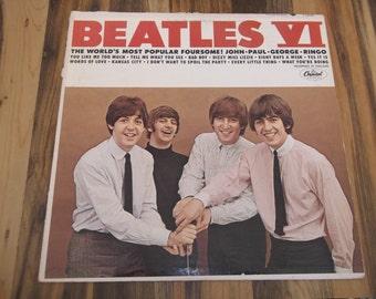 Beatles VI Vinyl Record Capitol T2358 Monaural