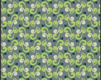 1 Yard- Art Gallery Fabric - Ash Nouveau Swirls