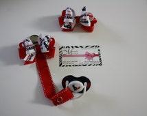 Houston Texans baby-3 pieces set Pacifier Clip- Houston Texans***FREE SHIPPING***