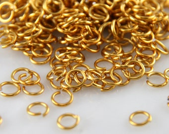 20 ga 1/8, 375 Gold Anodized Aluminum Chainmail Jump Rings