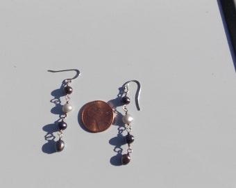 Vintage Dangle Pearl Earrings