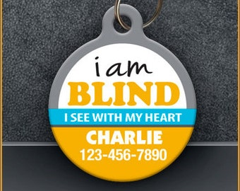 I Am Blind PET ID TAGS