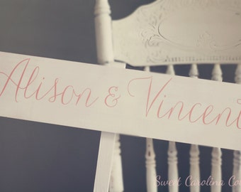 WEDDING SIGNS, Wooden Wedding Signs - Bride and Groom Wedding Sign WS-126
