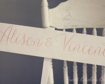 WEDDING SIGNS, Wooden Wedding Signs - Bride and Groom Wedding Sign WS-126