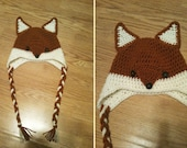 Made to Order Crochet Fox Beanie - All Sizes