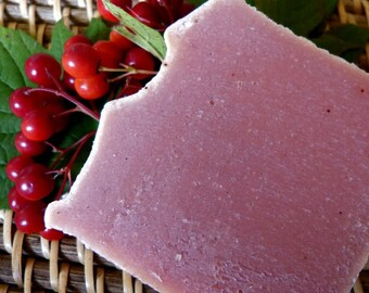 Cranberry, Homemade Soap, Vegan, Natural, Cranberry Tea, Cranberry Soap, 4.5-5 oz.