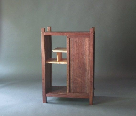 Entry cabinet small cabinet with shelves sliding door for Small foyer cabinet