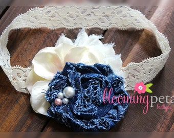 Denim Lace Infant/Toddler Headband