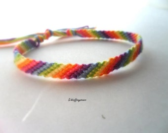 Pastel Rainbow Friendship Bracelet (thin)
