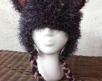 Fuzzy Wolf Hat