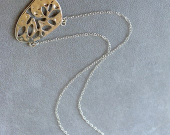 Tree of Knowledge Necklace in Sterling Silver, Tree of Life Jewelry