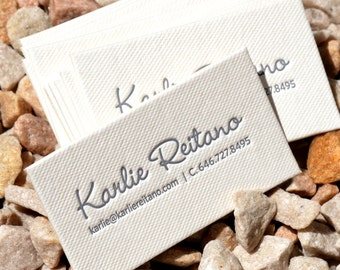 100 Letterpress Business Cards - 1 color 1 side - Cotton Pulp Paper