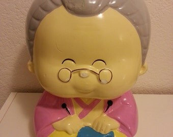 Ceramic Granny Coin Bank