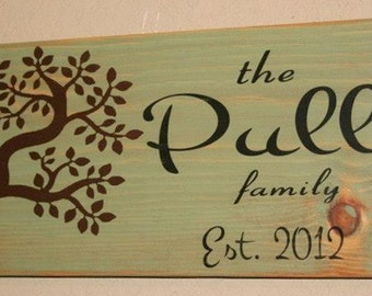 Family Established Sign, Family Established Wood Sign, Family Est Sign, Custom Wood Signage, Distressed Wooden Signs - Small Family Est Sign