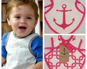 Bapron, Pink Anchor and Nautical Chain