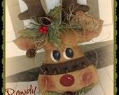 Primitive Reindeer Pattern Rowdy the Reindeer Christmas ePattern