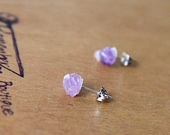 GENUINE Amethyst Pretty Stainless Sterling Silver