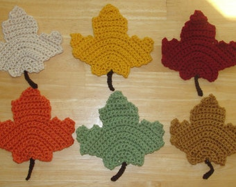 Free Maple Leaf Potholder Crochet Pattern : crochet maple leaf ? Etsy