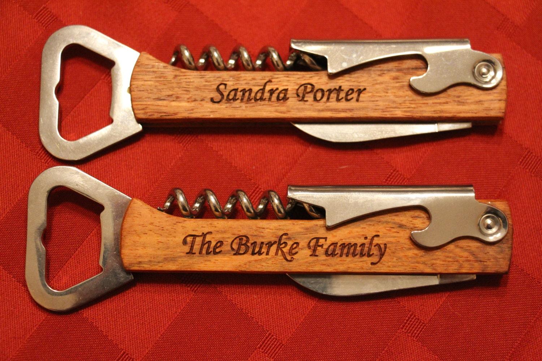 personalized wood wine bottle opener groomsmen gift. Black Bedroom Furniture Sets. Home Design Ideas