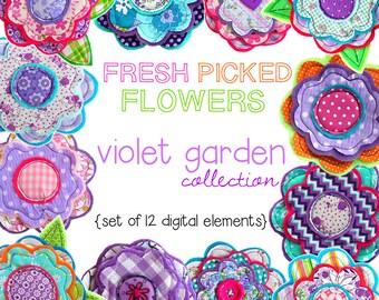 NEW Digital Clip Art -- Violet Garden Collection (Instant Download)