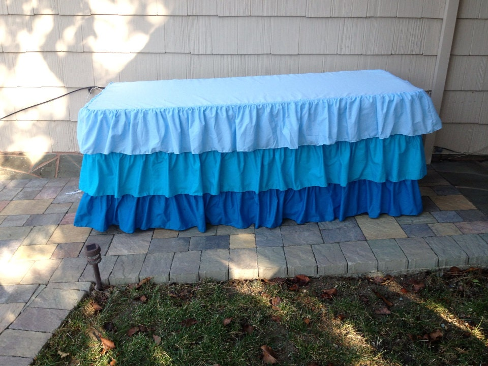 how to make a ruffled tablecloth