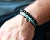 Mens Nylon Accent  Bracelet - Mens Bracelet