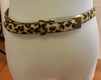 SALE Belt Vintage Leopard