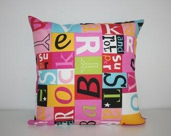 Especial discount POP Alphabet canvas  cushion cover 40x40cm 16x16inches