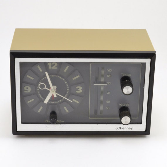 Vintage 70s Jcpenney Alarm Clock Radio By Twoguysvintage