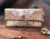 Genuine Leather ''Marauder's Map'' Harry Potter Tobacco Pouch - case