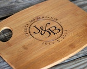 Personalized/Engraved Cutting Board with Couples Name and Initials Design, Personalized Wedding Gift, Bamboo, Custom Cutting Board, Gifts