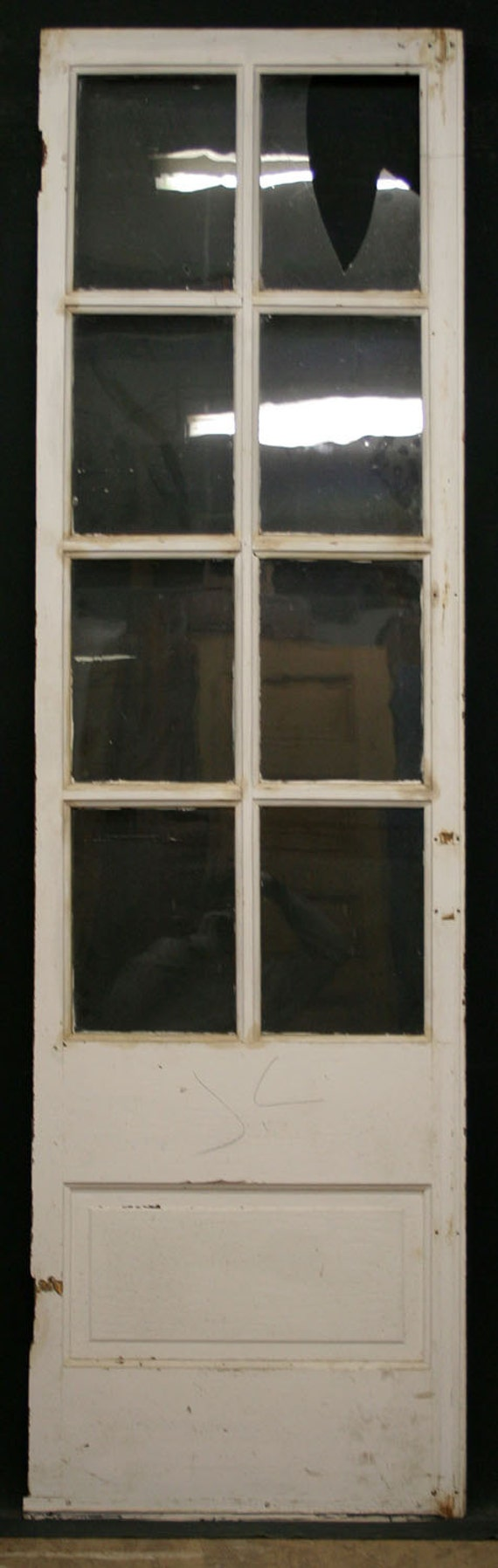 24x83 Antique French Pine Interior Door 8 True