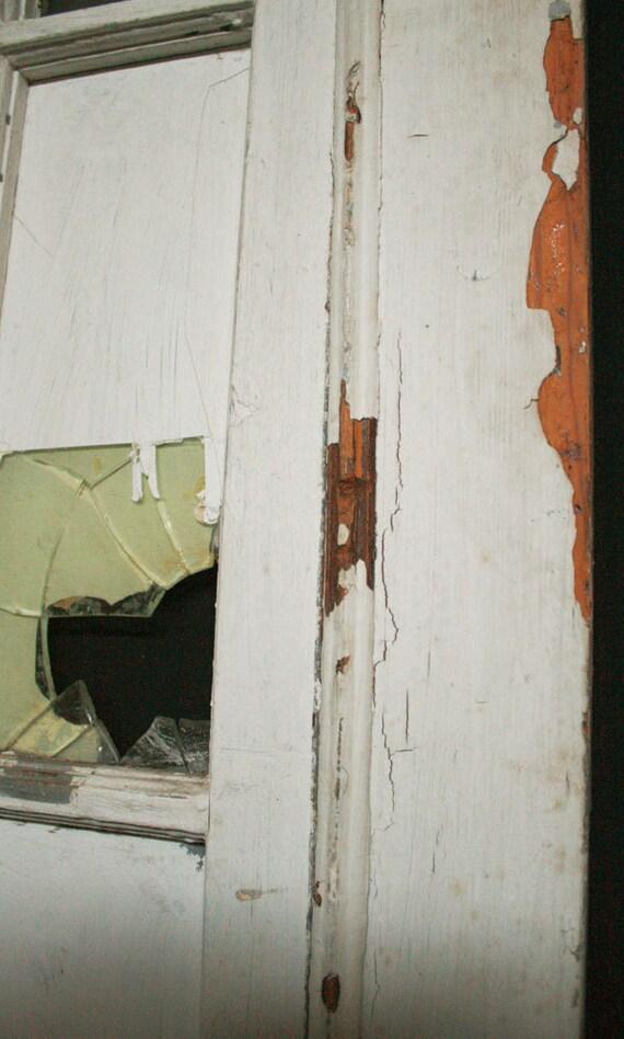 30 x 89 antique interior exterior french heart pine door for 18 inch interior glass door