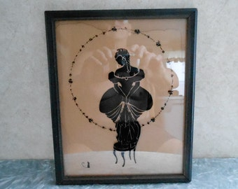 1800's Painted Glass Picture