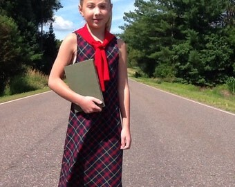 Vintage School Dress Bonnie Jean Plaid School Dress Size 7