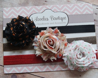 Holiday Headband Set, Baby Headband, Headband, Newborn Headband, Baby Headbands, Baby Girl Headband, Infant Headband