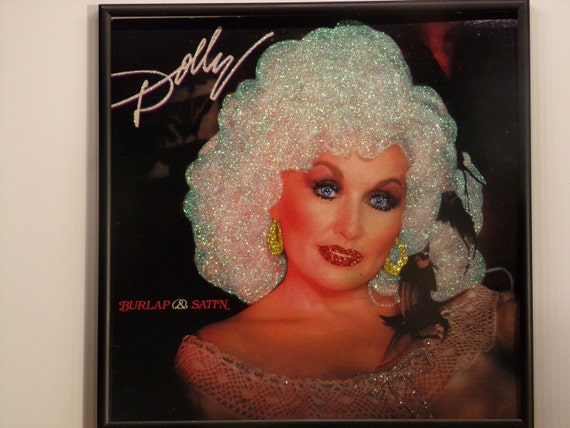 Glittered Record Album - Dolly Parton - Burlap & Satin