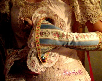 Marie Antoinette Wedding Bridal Bridesmaid Steampunk Victorian Lace Cuff Bracelet  Jewellery
