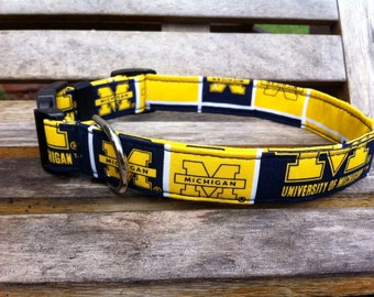 University of Michigan Dog Collar