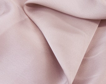 Mauve Crepe Back Fabric by the Yard, Bridal Satin Fabric, Matte Satin Fabric, Wedding Satin Fabric - Style 456