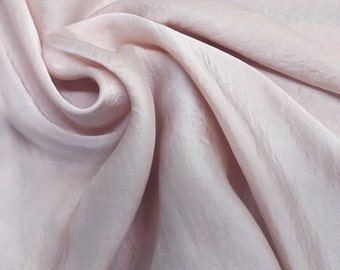 Mauve Satin Chiffon Fabric by the Yard, Wedding Chiffon Dress Fabric, Soft Satin Fabric - Style 455
