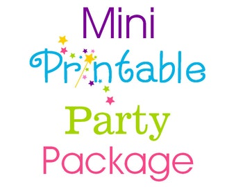 Mini Printable Party Package